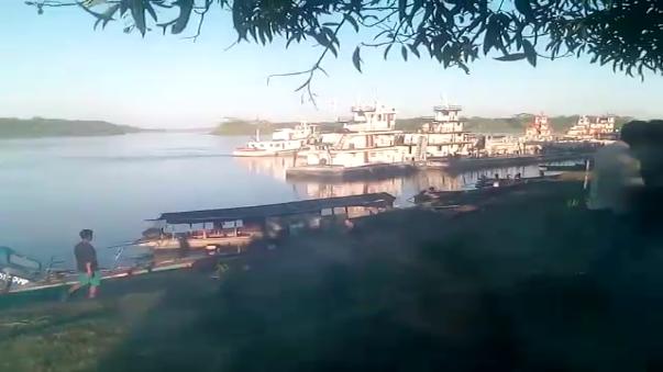 Embarcaciones retenidas en Saramurillo.