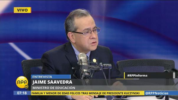 Saavedra se mostró calmado ante la posibilidad de una interpelación impulsada por la bancada de Fuerza Popular.