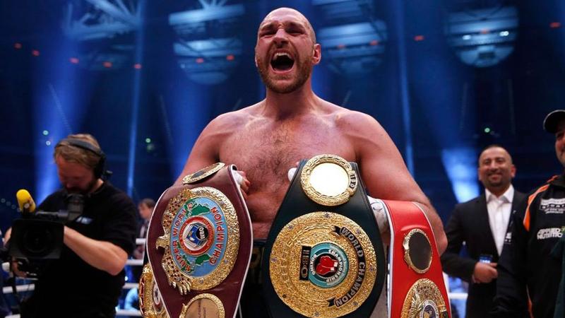 Tyson Fury tiene un récord invicto de peleas.