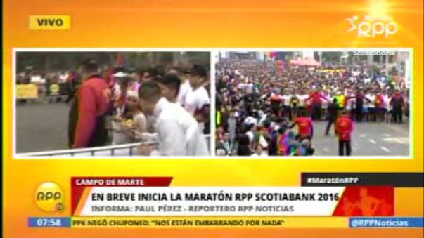 La Maratón RPP se vive al máximo.