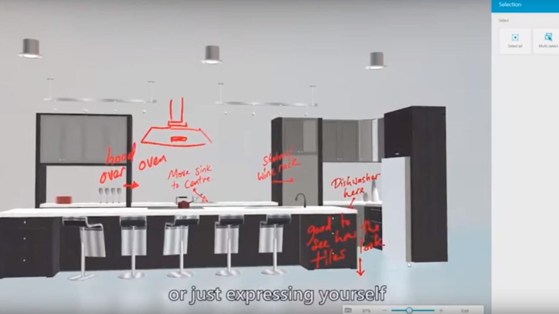 La nueva versión de Paint se ha diseñado para operarla en pantallas táctiles.