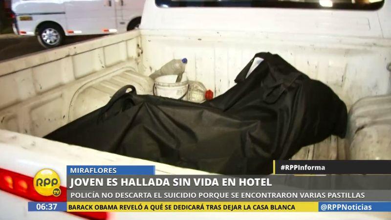 El cuerpo estaba dentro de la habitación de un hotel en Miraflores.