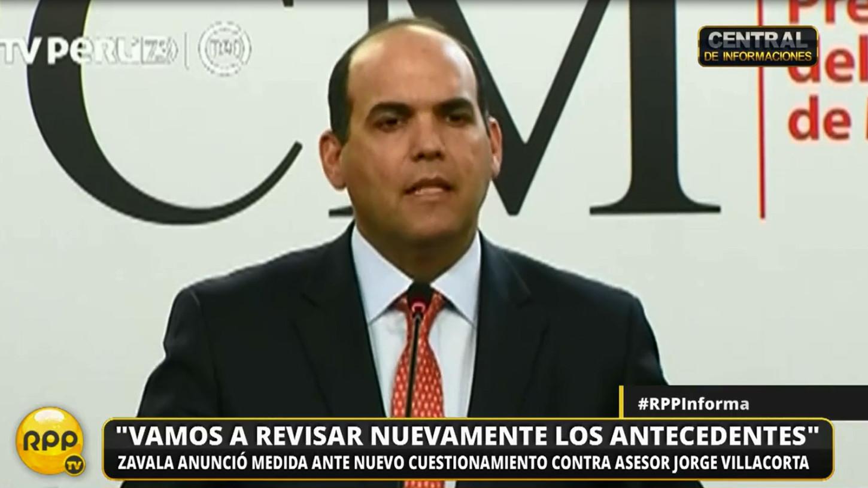 Zavala informó que el exasesor Carlos Moreno es investigado por la fiscalía anticorrupción y la contraloria.