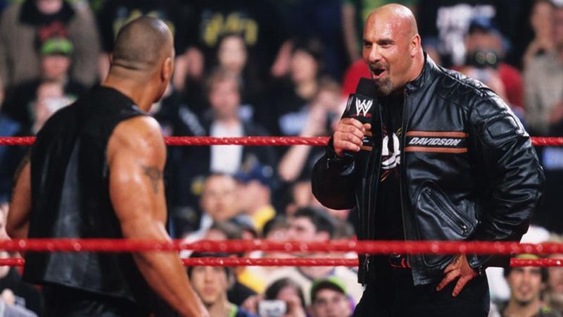 The Rock también fue víctima del ataque imprevisible de Goldberg.