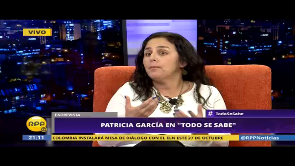"""La ministra de Salud, Patricia García, habló sobre el caso del exasesor presidencial Carlos Moreno, implicado en supuestos negociados en el Servicio Integral de Salud (SIS). """"Lo que estamos viendo es, probablemente, la punta del iceberg de la corrupción"""", dijo en una entrevista con el programa Todo se sabe de RPP Tv."""