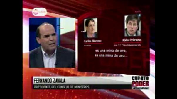 El titular de la PCM, Fernando Zavala, criticó al exasesor presidencial en temas de salud, Carlos Moreno, quien fue grabado en Palacio de Gobierno conversando con el dueño de una clínica privada, proponiéndole un negocio millonarios con el SIS.