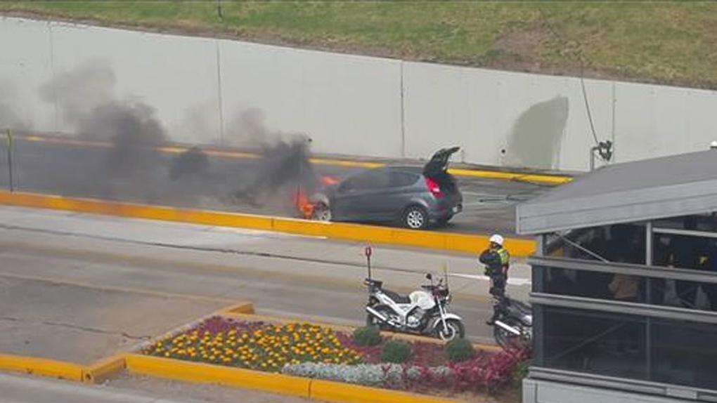 El incidente ha generado un intenso tráfico en la vía Expresa con dirección al centro de Lima.