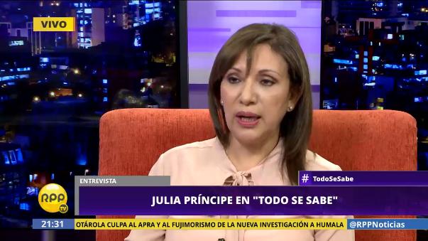 Julia Príncipe es también asesora del Ministerio de Justicia.