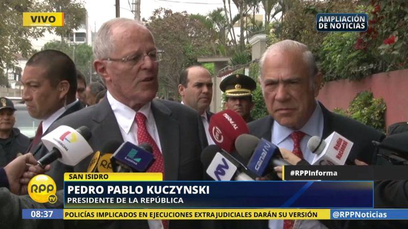 Pedro Pablo Kuczynski se reunió con Angel Gurría, secretario general de la OCDE.