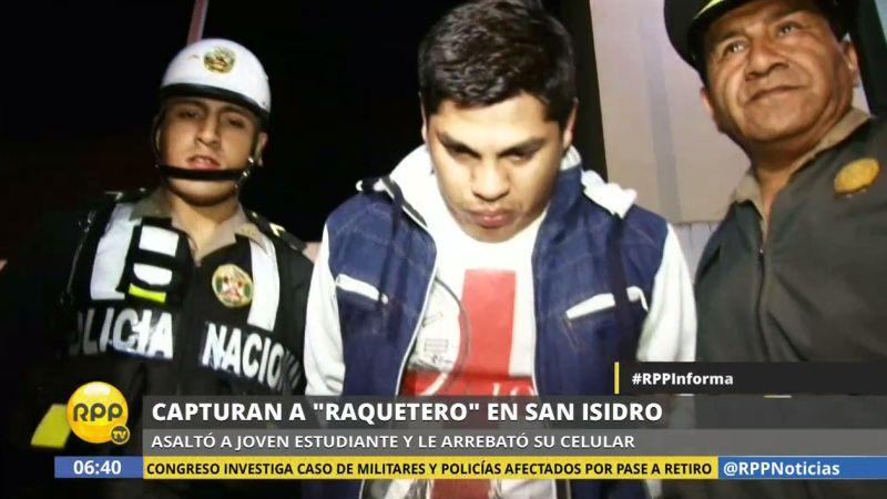 El delincuente fue detenido a la altura de la calle Joaquín Bernal por serenos de San Isidro.