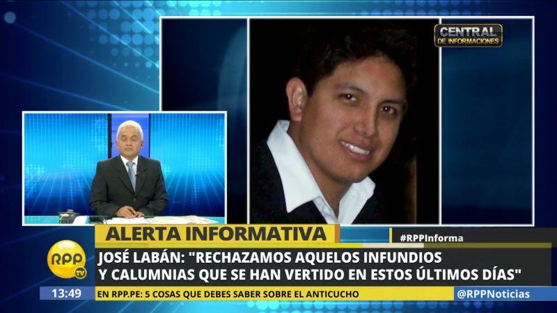"""José Labán rechazó las denuncias en su contra, calificándolas de """"infundios y calumnias""""."""
