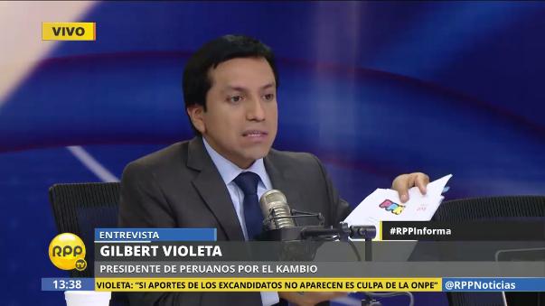 Gilbert Violeta dijo que en Peruanos por el Kambio hay gente que se siente relegada.