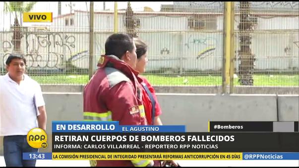 Los tres bomberos fueron despedidos como héroes.