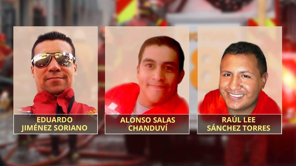 No se vio a los tres bomberos desde la 01:00 de la madrugada.