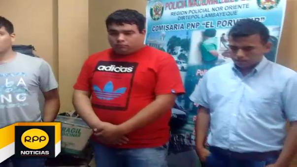 Personas fueron puestos a disposición de la comisaría El Porvenir para las investigaciones del caso.