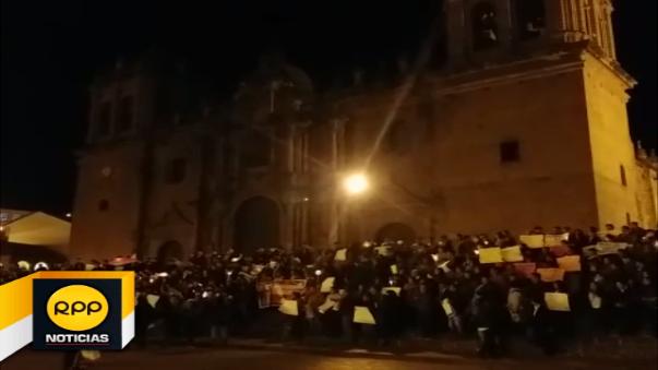 Manifestantes señalaron que la medida de protesta se ampliará hasta el próximo miércoles.