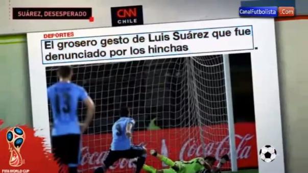 Los medios chilenos también hicieron eco del gesto del atacante charrúa.
