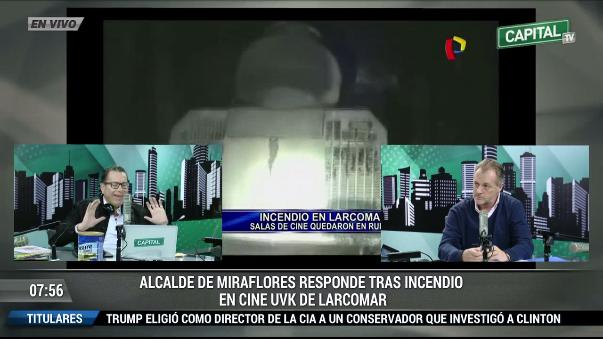Jorge Muñoz dijo que las puertas de emergencia de las salas funcionaban correctamente.