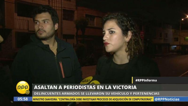 El asalto ocurrió a pocas cuadras de la vivienda de la periodista.