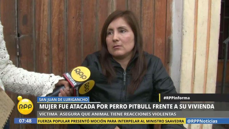 Liz Rojas llegaba del trabajo cuando fue atacada por la perra pitbull.
