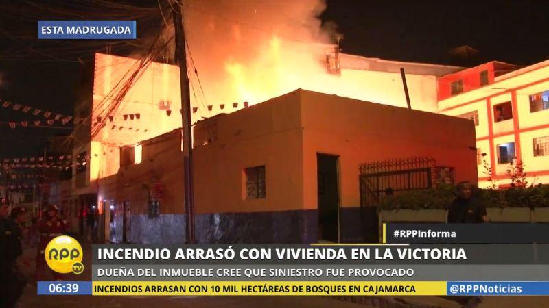 Un área de 40 metros cuadrados fue arrasada por el incendio, estimaron representantes de los bomberos.