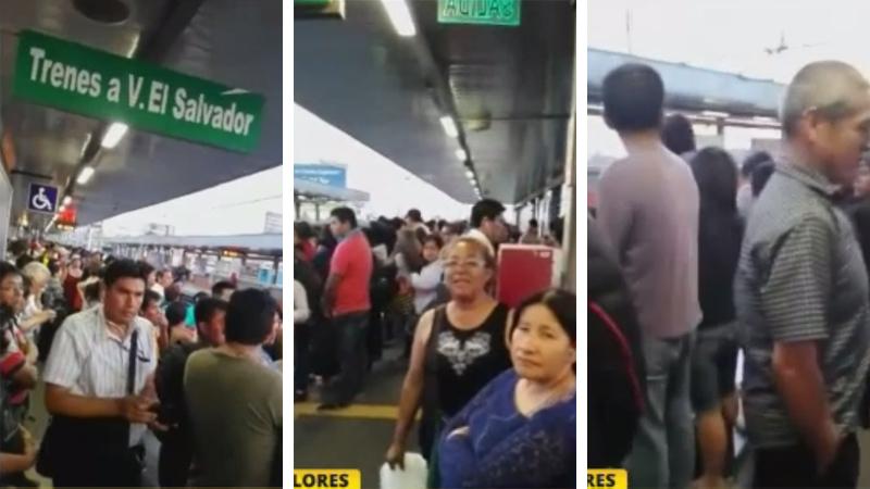 Las estaciones del tren se llenan de gente.