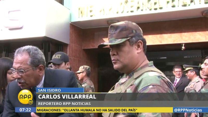 Juan Leguía Manzur fue trasladado desde la sede de la Dirección Antidrogas hasta la Sala Penal Nacional.