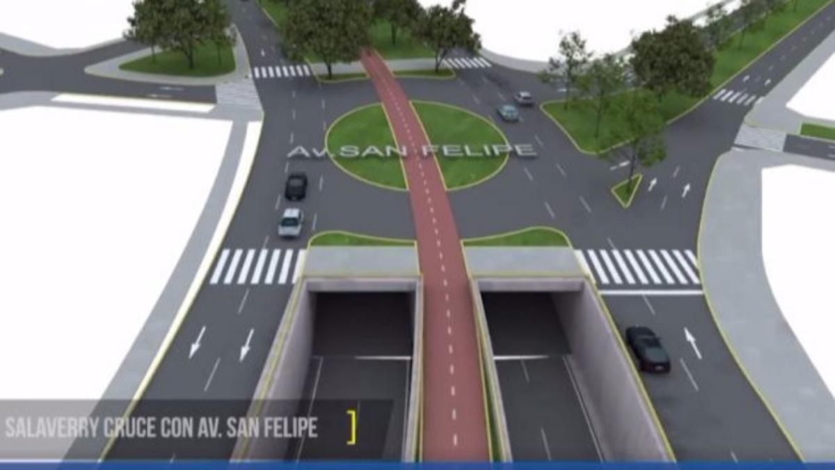 La municipalidad de Lima difundió un video de como serían los by-pass en la avenida Salaverry.