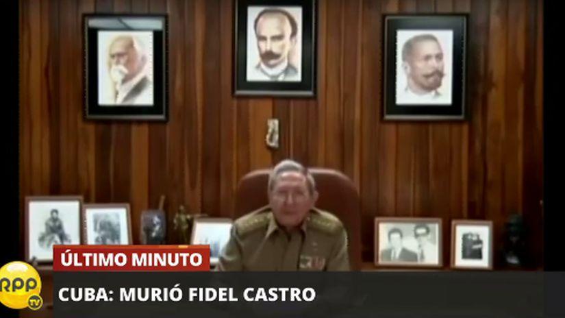El anunció de la muerte de Fidel Castro en RPP televisión.