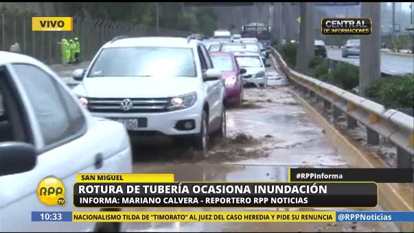 Se registró tránsito intenso en el sector de la Costa Verde.