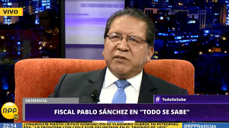 Fiscal de la Nación, Pablo Sánchez