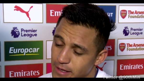 """""""Estoy muy feliz por el equipo, por mi amigo. Los hinchas son fantásticos. Estoy feliz y ahora voy a ir a casa con mi perro"""", bromeó el delantero chileno."""