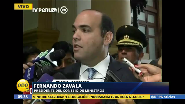 El titular de la PCM, Fernando Zavala, dijo que fue él quien le pidió al ministro Mariano Gonzalez que dé un paso al costado.