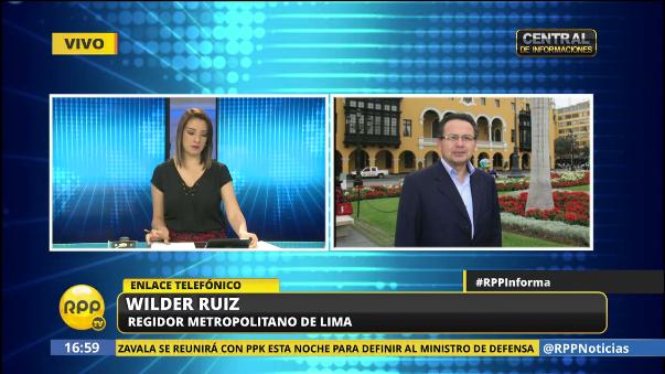 El regidor Wilder Ruiz criticó el audio de Hernán Núñez.