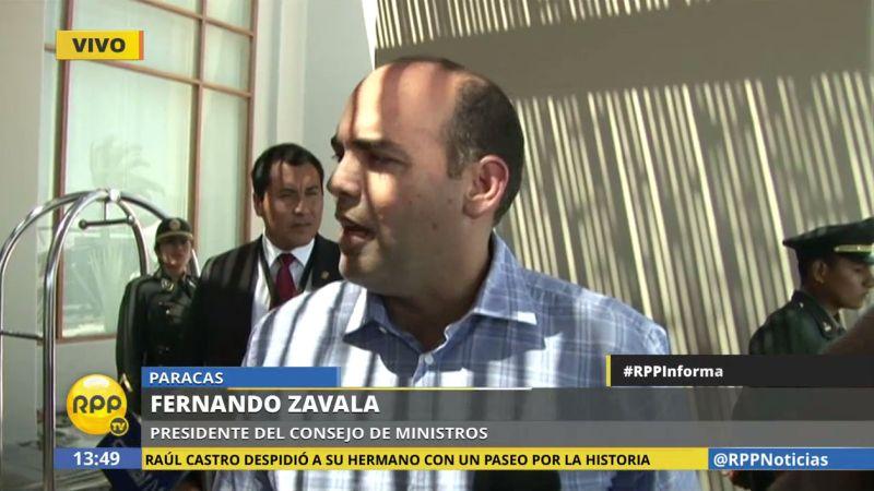 Zavala evitó dar nombres sobre el eventual reemplazante de Mariano González.