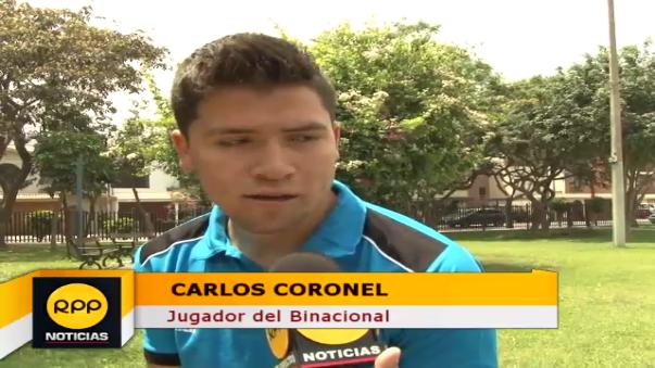 Carlos Coronel tiene 19 años y juega por la banda derecha del Binacional de Arequipa.