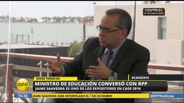 Jaime Saavedra será interpelado el 7 de diciembre.