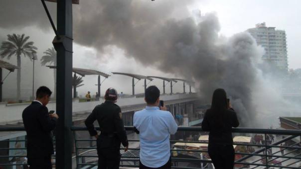 El vicepresidente Martín Vizcarra dijo que el comunicado del Mininter, que indicó que el incendio habría sido provocado, fue publicado en condicional.