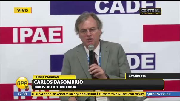 El ministro Carlos Basombrío dijo que las personas que extendieron el rumor de traficantes de órganos en Huaycán lo