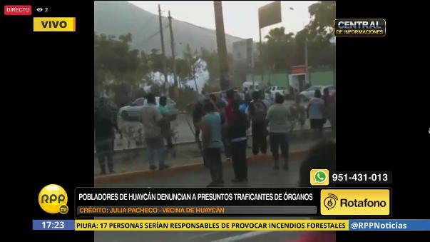 Así reportaron vecinos de Huaycán los enfrentamientos.