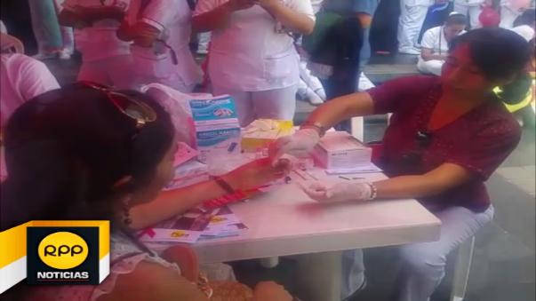 La Dirección Regional de Salud Piura realizó tamizaje gratuito a la población.