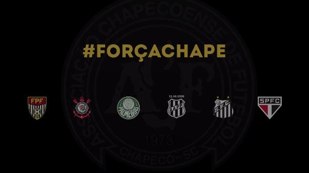 Corinthians, Palmeiras, Ponte Preta, Santos y Sao Paulo se ponen la camiseta del Chapecoense.