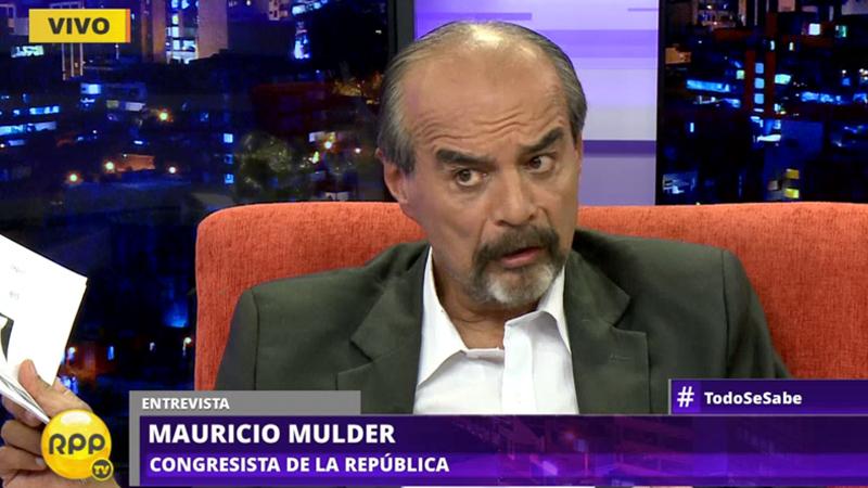 El congresista Mulder opinó sobre la decisión del gabinete de acompañar al ministro Saavedra a la interpelación.
