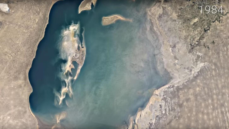 Lago Mar de Aral, Ubekistan.
