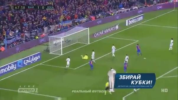 Neymar falló una clara ocasión tras tremendo amague