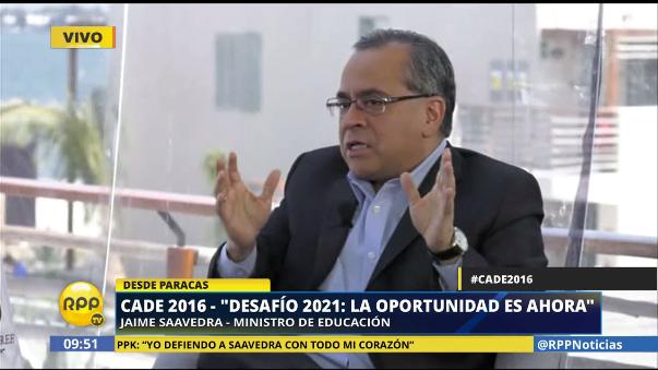 El ministro de Educación, Jaime Saavedra, dijo que no teme que lo censuren, ya que es una decisión del Congreso.