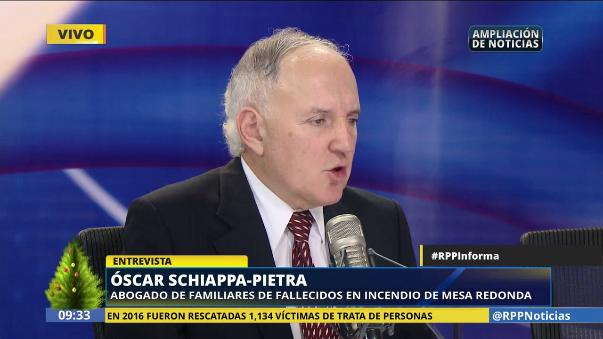 Óscar Schiappa-Pietra, abogado de los familiares de los fallecidos, contó que la lucha de estos por conseguir justicia sigue luego de 15 años.