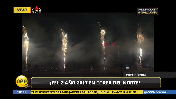 Así fueron las celebraciones de Año Nuevo en Corea del Norte cuando llegó el 2017 a occidente.