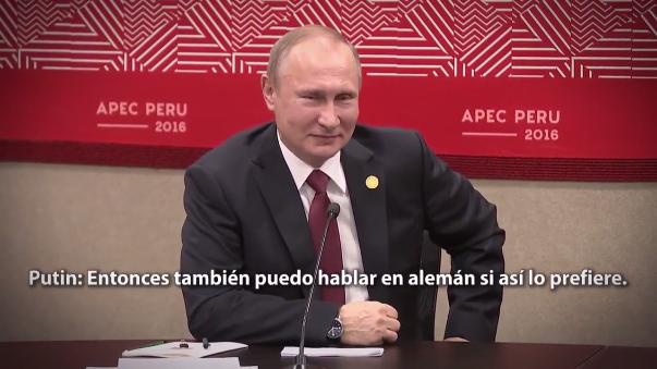 ¿En qué idioma hablamos? El divertido diálogo entre PPK y Vladímir Putin