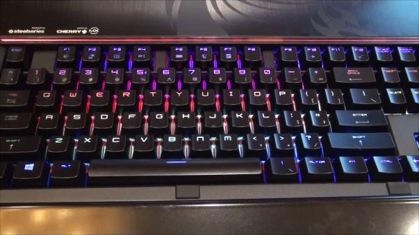 El teclado en acción.